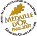 Médaille d'or 2007 Paris